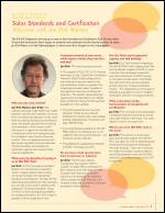 Interview with Jan Erik Nielsen: Solar Standards and Certification