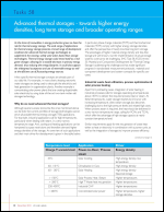 Advanced thermal storages - towards higher energy densities, long term storage and broader operating ranges