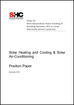 Solar Heating and Cooling & Solar Air-Conditioning Position Paper